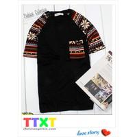 áo thun nam kiểu hàn quốc Mã: NT438 - ĐEN