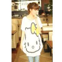 áo kiểu form dài oversize hello kitty Mã: AD610 - TRẮNG