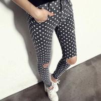quần dài kaki nữ chấm bi - Mã: QD445
