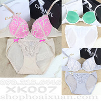 Bộ đồ lót thun ren mịn Hiệu Victoria Secret - XK007