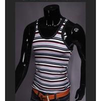 áo 3 lỗ nam sọc ngang Mã: NB073 - ĐEN