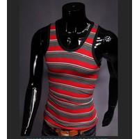 áo 3 lỗ nam sọc ngang Mã: NB073 - ĐỎ