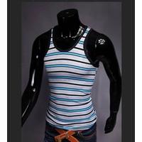 áo 3 lỗ nam sọc ngang Mã: NB073 - XANH NHẠT