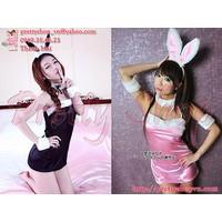 DN016 bộ đầm ngủ thun mịn cosplay nàng thỏ sexy