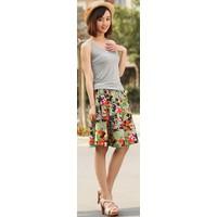 Chân váy họa tiết in hoa xinh xắn - 55cm