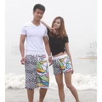 Quần short nữ dạo biển sọc Mã: QN456 - 2