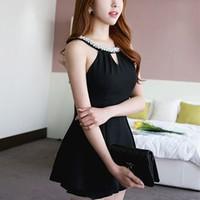 Váy Ngắn Cổ Kết Ngọc Trai YKVD91