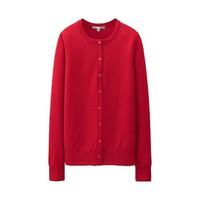 Cardigan lông cừu nữ màu 16 Red hãng Uniqlo - hàng nhập Nhật
