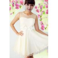Đầm voan kem ĐVK001-200