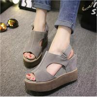 Giày Sandal nữ đế xuồng phong cách Hàn Quốc - SG0098