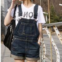 quần short jeans yếm cá tính - Mã: QN558