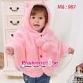 Áo choàng bông ấm áp cho bé 0- 2 tuổi