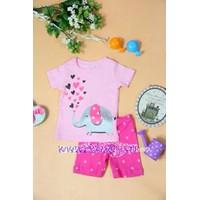Bộ quần áo cho bé gái họa tiết con voi - YY18