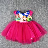 Đầm công chúa băng giá hồng