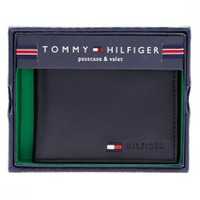 Bóp da Tommy hilfiger men multi card passcase wallet Black