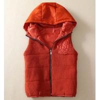 Áo khoác Gile nữ liền mũ, kiểu len ấm áp - AV011