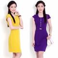 Đầm Công Sở Hàn Quốc Đính Đá