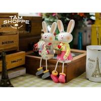 Cặp thỏ ngồi super xinh