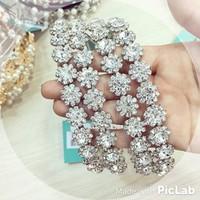 Băng đô hoa tuyết hạt đá cực đẹp