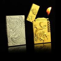 Hộp quẹt hình rồng vàng