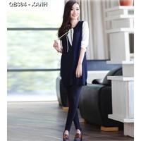 Quần legging nữ cá tính Mã: QB394 - XANH