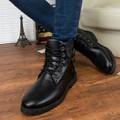 Giày nam boot combat 2 khóa cổ thấp