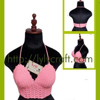 Áo Crop top móc bằng chỉ Cotton - Handmade