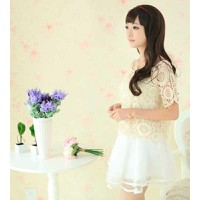 áo ren nữ crop top hoa văn Mã: AK1253