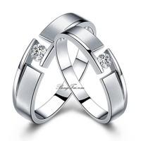 Nhẫn đôi bạc cao cấp NC0771