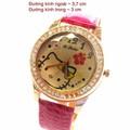 Đồng hồ mèo Kitty dây da hồng