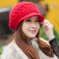 Nón len mũ len 2 lớp  thời trang thu đông Hàn Quốc L128