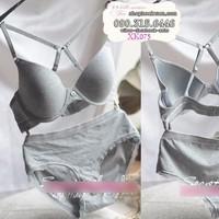 bộ đồ lót thun cotton hàng xuất khẩu hiệu victoria - XK075