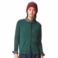 Cardigan lông cừu nữ màu 59 Dark Green hãng Uniqlo - hàng nhập Nhật