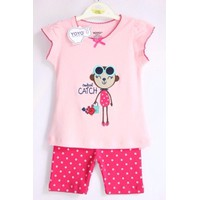 Bộ quần áo cho bé gái họa tiết Monkey - YY4