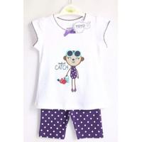 Bộ quần áo cho bé gái họa tiết Monkey - YY1