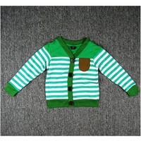 Áo khoác sọc cổ tim xanh lá BH366