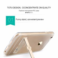 ỐP LƯNG IPHONE 6 6S, 6plus TOTU METAL HOLDER  SILICON DẺO TRONG SUỐT