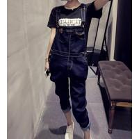 Quần jeans yếm dài cá tính Mã: QD770