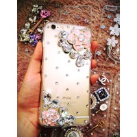 Ốp lưng đính đá hoa hồng iphone 5,5s,6,6s,6plus,6splus,7,7plus