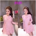 Đầm ren hồng - SS28