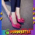 Giày cao gót phối nơ dễ thương - GN18