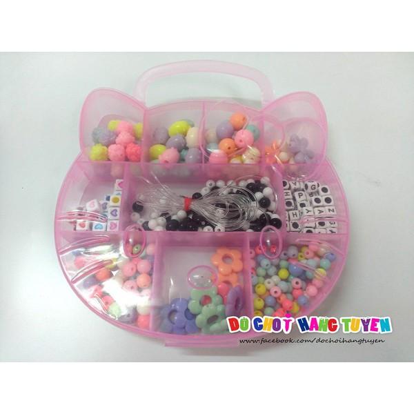 Hộp Phụ Kiện Làm Vòng Tay, Dây Chuyền Hello Kitty Cực Xinh Cho Bé 35848
