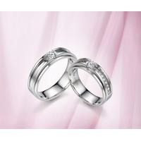 Nhẫn đôi bạc gắn kim cương nhân tạo ND0001 Thao Linh Jewelry