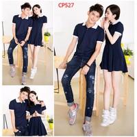 CP527 Set nguyên bộ couple áo nam đầm xòe