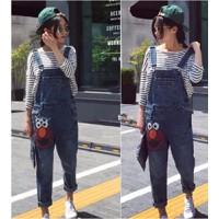 Quần jeans yếm cartoon chú hề Mã: QD944
