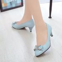 Giày xinh nơ đá cao cấp