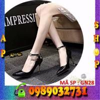 Giày cao gót nữ đính pha lê cao cấp Hàn Quốc - GN28