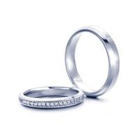 Nhẫn đôi bạc mạ vàng trắng ND0007 Thao Linh Jewelry