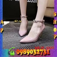 Giày cao gót đính hạt pha lê cao cấp Hàn Quốc - GX27