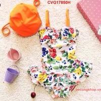 Đầm bơi hoa sắc màu nhập khẩu cực đẹp cho bé từ 1-8 Tuổi_CVG17850H